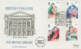 1982 British Theatre, British Library no.34 FDC, 250th Anniversary Royal Opera House Covent Garden London WC2 H/S.