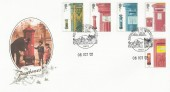2002  Pillar to Post, Buckingham Covers Official FDC, Postal History Brought to Life Bath H/S.