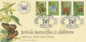 1981 Butterflies, Bradbury LFDC 9 Official FDC, Leicestershire Museums Service British Butterflies Exhibition H/S.