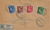1936 King Edward VIII, Morocco Agencies overprints ½d, 1d, 1½d & 2½d, Plain Registered FDC, Registered British PO Larache Oval cds.