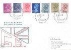 1983 Definitive Issue 3½p, 16p, 17p, 20½p, 23p, 28p & 31p, Philcovers FDC, First Day of Issue Windsor Berks. H/S.