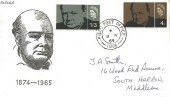 1965 Sir Winston Churchill, Illustrated FDC, Field Post Office 1006 cds, used in Korea.
