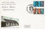 1966 Robert Burns, Connoisseur FDC, The friend of man - to vice alone a foe Dumfries H/S.