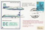 1976 British Midland Airways AO17 Cover, First Anniversary Scheduled Service between Birmingham & London Heathrow, Heathrow Airport H/S.