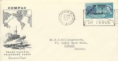 1963 Commonwealth Cable, Illustrated Souvenir FDC, First Day of Issue London WC Slogan.