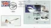 2002 Airliners Miniature Sheet, Buckingham Covers 20a Official FDC, Concorde 21st Century Travel Heathrow doubled with 25th Anniversary Commercial Supersonic Flight Heathrow