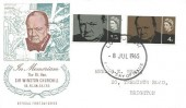 1965 Sir Winston Churchill, Illustrated FDC, London SW FDI.