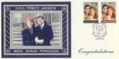 1986 Royal Wedding, HRH Prince Andrew & Sarah Ferguson, K & D Official FDC, Congratulations Dummer Basingstoke Hampshire H/S.