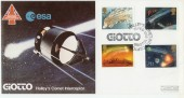 1986 Halley's Comet, Covercraft Official FDC, Giotto Halley's Comet Interceptor Bristol H/S