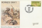 1970 Commonwealth Games, National Army Museum Official Rorke's Drift FDC, Rorke's Drift British Forces 1211 Postal Service H/S.