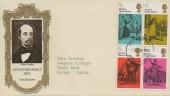 1970 Literary Anniversaries Pair of Illustrated FDC's, Stevenage Herts. FDI.