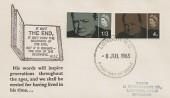 1965 Sir Winston Churchill, Scarce Illustrated FDC, London WC FDI.