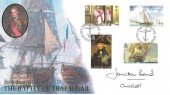 2005 Gibraltar, 200th Anniversary of the Battle of Trafalgar, signed by Admiral Sir Jonathan Band CINCFLEET.