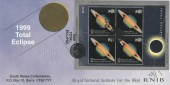 1999 Total Solar Eclipse, South Wales Collectables Official FDC, 1999 Total Eclipse Land's End Penzance H/S.