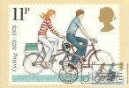 1978 Cycling Centenary PHQ Card No.31,11p Stamp used on front, Driver - Mind that Bike Slogan Reading.