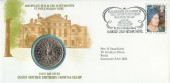 1980 Queen Mother's 80th Birthday, Sumner Official PNC Coin FDC, St. Pauls Walden Bury Hitchin Herts. H/S.