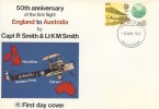 1969 Notable Anniversaries, 50th Anniversary of the First Flight England to Australia, Wessex FDC, Gloucester FDI.