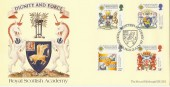 1987 Scottish Heraldry Covercraft Official FDC, Royal Scottish Academy Edinburgh H/S.