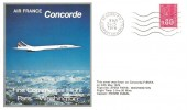 1976 Air France Concorde, First Commercial Flight Paris - Washington Cover, Ch. De Gaulle Aeroport Roissy cancel.