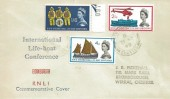 1963 Lifeboat Conference, Unusual Cover Design FDC, Hawarden Chester cds.