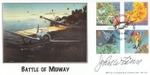 2001 The Weather, BHC Battle of Midway Official FDC, Governor Square London W1 H/S, Signed.