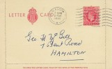 1951 King George VI, 2½d Red Letter Card, Glasgow Cancel.
