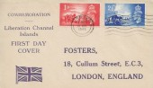 1948 Channel Islands Liberation, Fosters FDC, Jersey Cancel.