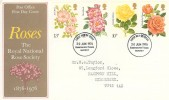 1976 Centenary of the Royal National Rose Society, Post Office FDC, Kingston Upon Thames Surrey FDI.