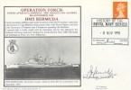 1990 Operation Torch, HMS Bermuda Cover, History of the Royal Navy Series Plymouth H/S, Signed.
