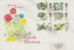 1967 British Wild Flowers FDC, Phosphor Set, with Kew Gardens cds