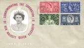 1953 Queen Elizabeth II Coronation, Illustrated FDC, Long Live the Queen Slogan Uckfield.