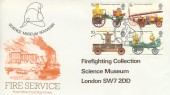 1974 Fire Service, Overprinted Post Office Science Museum Souvenir FDC, First Day of Issue Philatelic Bureau Edinburgh H/S.