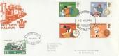 1981 Duke of Edinburgh's Awards, Festiniog Railway FDC, Caernarfon Gwynedd FDI + 20p Railway Letter Stamp.