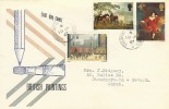 1967 Paintings, Scarce Illustrated cover design FDC, Stourport on Severn Worcs. cds.