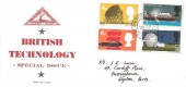 1966 British Technology, North Herts. Stamp Club FDC, RAF Bassingbourn Royston Herts. cds.
