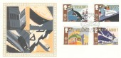 1988 Transport & Communications, Fleetwood FDC, First Day of Issue Philatelic Bureau Edinburgh H/S.