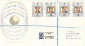 1986 Parliamentary Conference, Registered Royal Mail FDC, Windsor Castle Windsor Berks. cds.