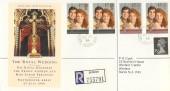 1986 Royal Wedding, Registered Royal Mail FDC, Windsor Castle Windsor Berks. cds.
