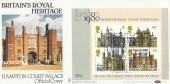 1978 Historic Buildings Miniature Sheet, Benham BOCS 2d Official FDC, Royal Heritage Hampton Court Palace H/S.