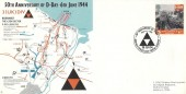 1994 D Day Forces 3 (UK) Division HQ Official FDC, 25p only, 50th Anniversary of D Day BF 2422 PS H/S.