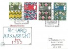 1982 British Textiles, Philcovers FDC, 250th Anniversary Sir Richard Arkwright, Arkwright House Preston H/S.