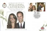 2011 The Royal Wedding William & Catherine, Westminster FDC, First Day of Issue London SW1 H/S.