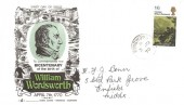 1970 Literary Anniversaries, Gemini William Wordsworth FDC, 1/6d only, Ringwood cds