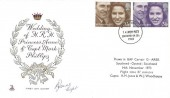 1973 Royal Wedding, Princess Anne & Captain Mark Phillips, Mercury FDC, Southend on Sea FDI. Flown in BAF Carvair Southend - Ostend - Southend. Signed by Capt. R.M. Jones.