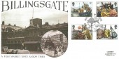 1981 Fishing, Hawkwood Official FDC, Centuries of Trading Billingsgate EC3 H/S.