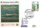 1976 Concorde First Charter Flight World Summit Puerto Rico Cover, Heathrow Airport London Hounslow Middx. H/S.