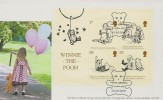 2010 Winnie- the-Pooh Miniature Sheet, GBCovers GB158A Official FDC, Milne Gardens London SE9 H/S.