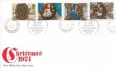 1974 Christmas, Post Office FDC, RAF Hospital Wroughton Swindon Wilts cds & Cachet.