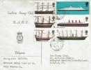 1969 British Ships, Emblem Stamp Club RAOC Belgium FDC, Field Post Office 516 cds.