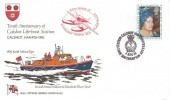 1980 Queen Mother's 80th Birthday, Pilgrim RNLI Official FDC, 10th Anniversary RNLI Station Calshot Southampton H/S.